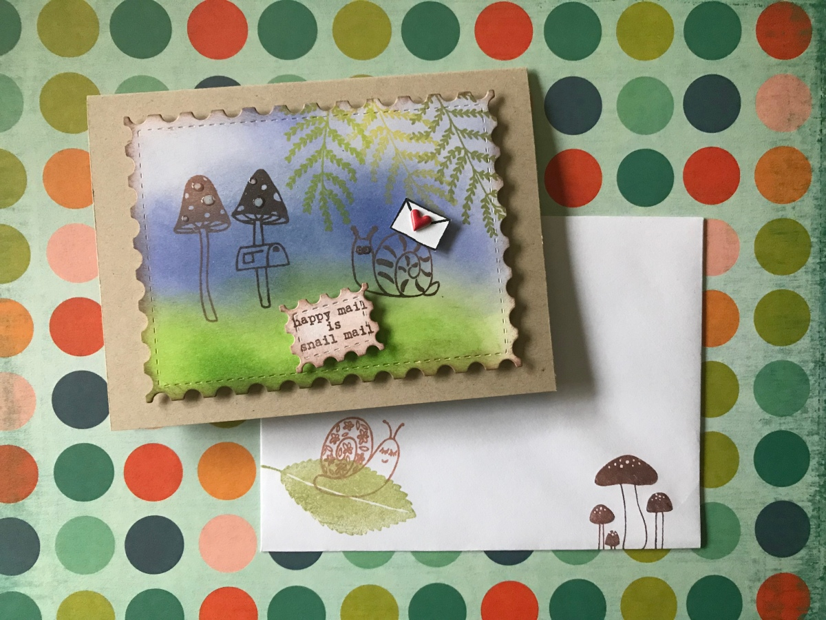 Snail Mail: a card project and Flora and Fauna clear stampsreview.